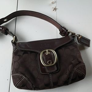 COACH SHOULDER PURSE WITH LEATHER